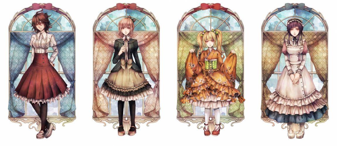 Super Danganronpa 2 Nanami Chiaki Tsumiki Mikan Owari Akane Saionji Hiyoko wallpaper