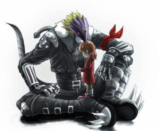 Digimon Tamers Ai (Digimon) Beelzemon Little Girl wallpaper
