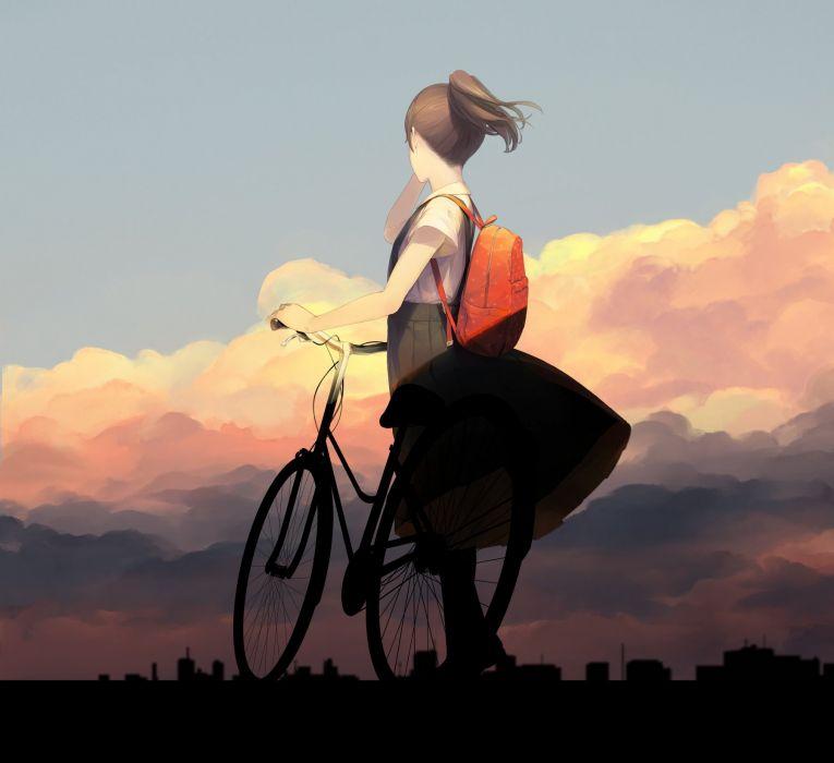 Sawasawa Looking Ahead Outdoors Bicycle Backpack original wallpaper