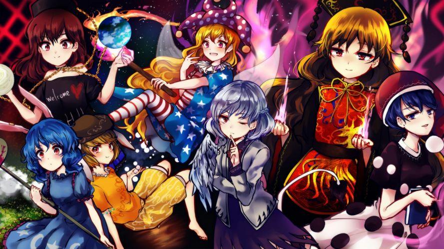 Touhou Legacy of Lunatic Kingdom Junko (Touhou) Doremy Sweet Clownpiece wallpaper