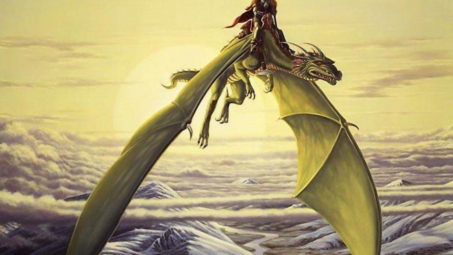 dragon jinete fantadia wallpaper