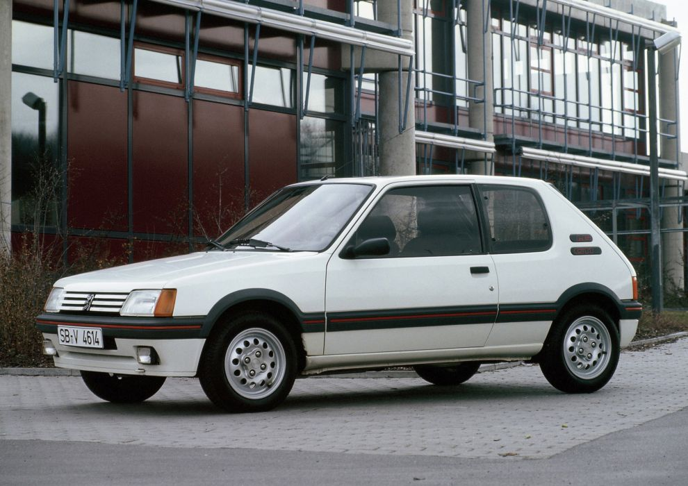 peugeot 205 1600 gti cars french wallpaper
