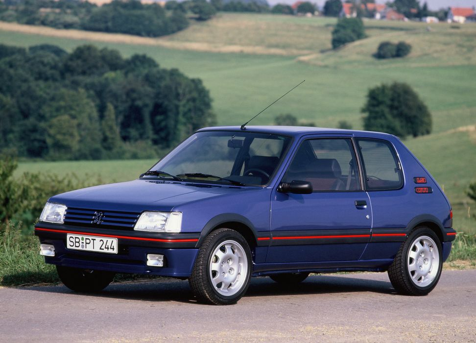 peugeot 205 1900 gti cars french wallpaper