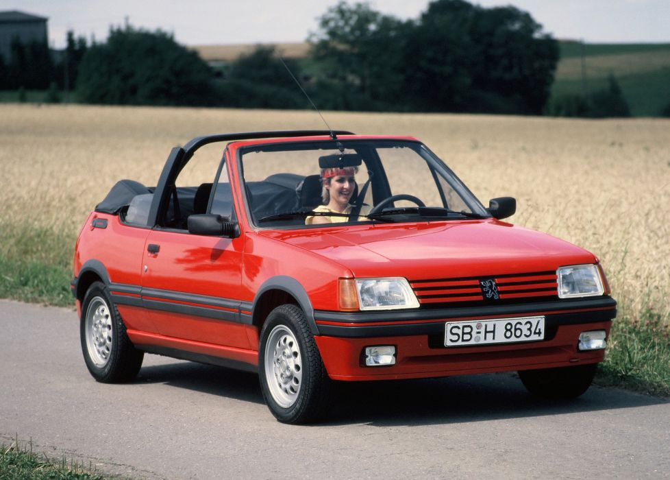 peugeot 205 1600 cti cabriolet cars french wallpaper
