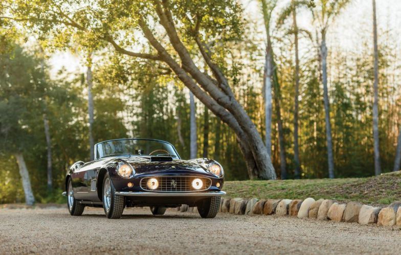 Ferrari 250 GT California LWB cars blue 1958 wallpaper