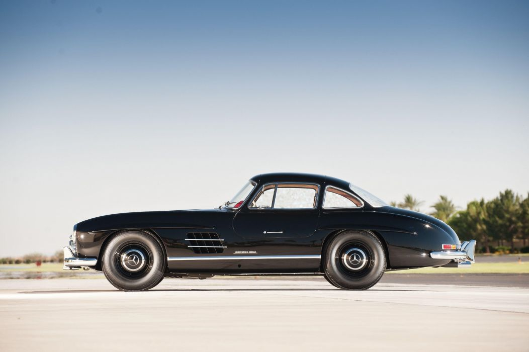 Mercedes Benz 300 SL black (W198) cars classic black 1957 wallpaper
