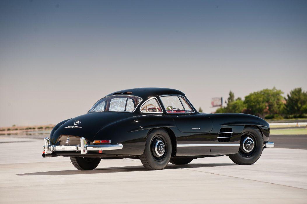 Mercedes Benz 300 SL black (W198) cars classic black 1957 wallpaper