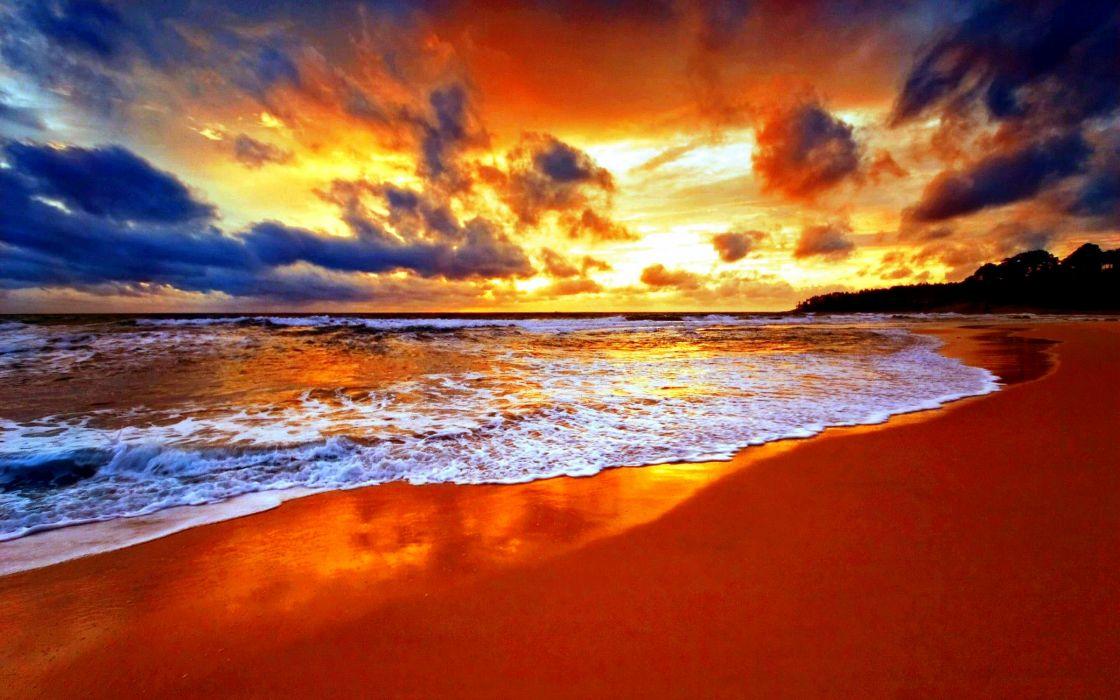 beach sky clouds beauty wallpaper