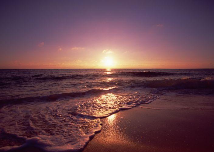beach sea ocean beauty sky cloud sunset wallpaper