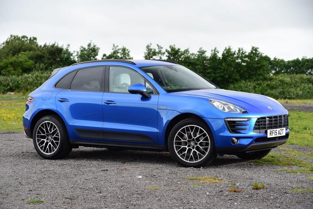 Porsche Macan S Diesel UK-spec (95B) cars suv blue 2014 wallpaper