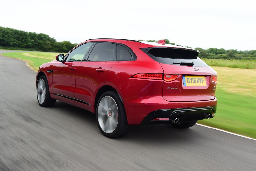 Jaguar F-Pace S 30d AWD UK-spec cars suv red 2016 wallpaper