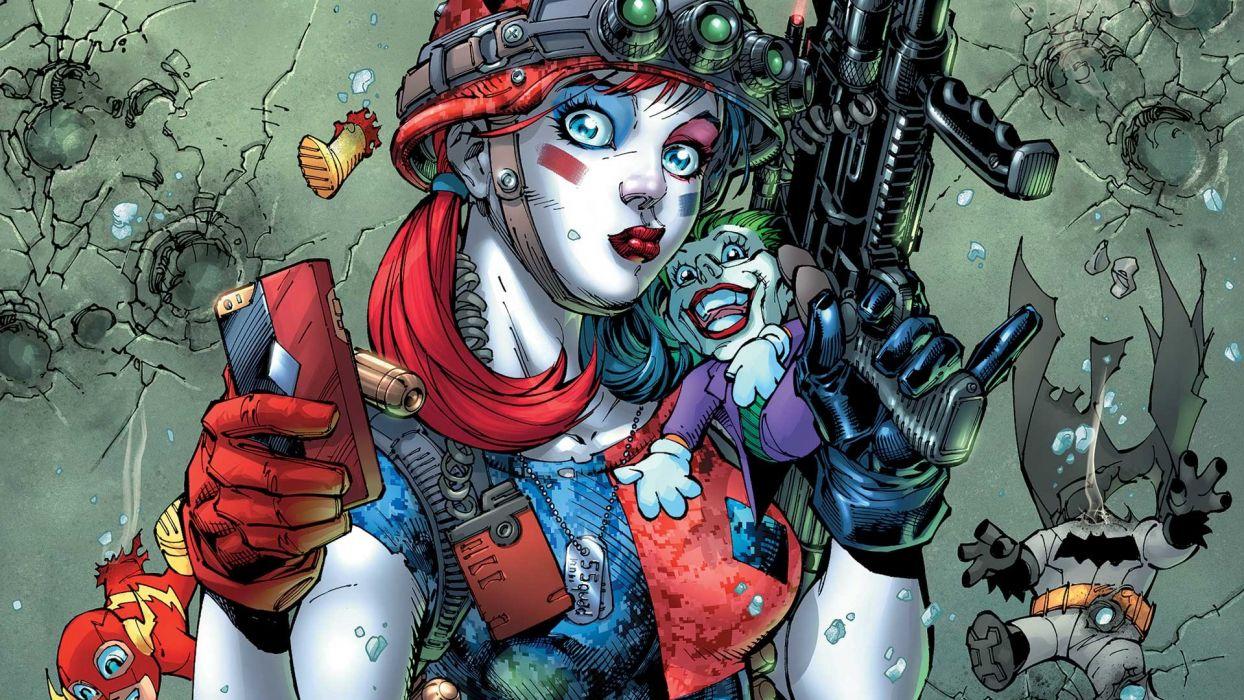 action comics d-c dc-comics fighting harley mystery quinn squad suicide superhero (59) wallpaper