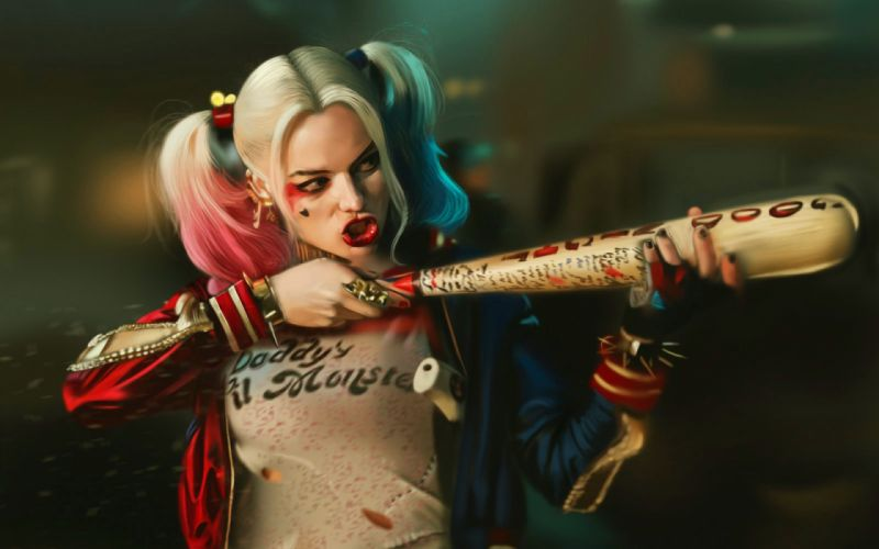 action comics d-c dc-comics fighting harley mystery quinn squad suicide superhero (49) wallpaper