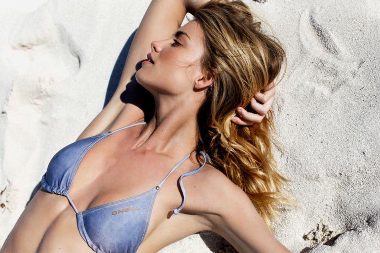 Elyse Taylor beautiful girl female women woman sexy babe model blonde bikini wallpaper
