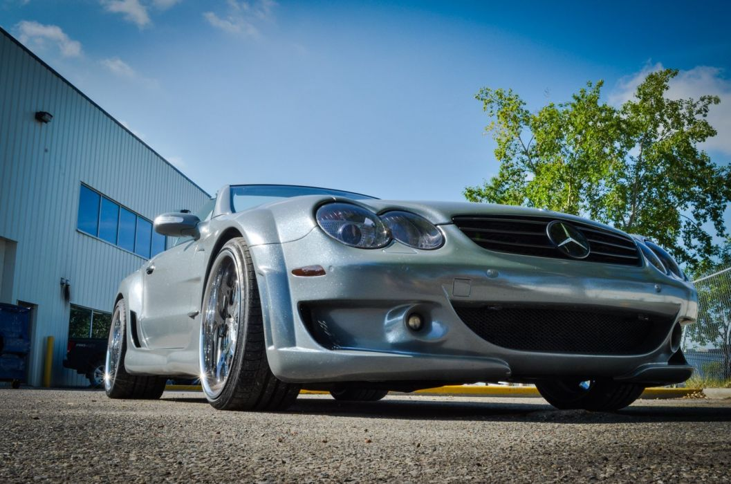 Mercedes SL55 AMG ZR Auto cars modified wallpaper