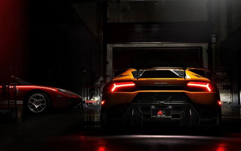 2016 Vorsteiner Lamborghini Huracan cars supercars orange wheels wallpaper
