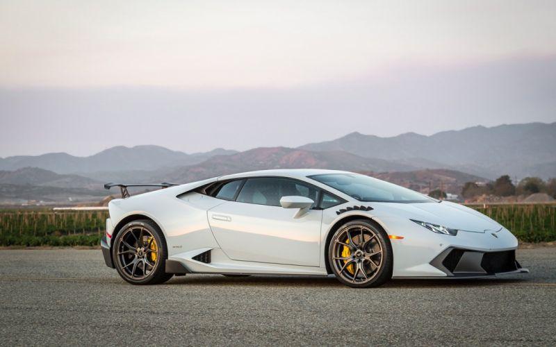 2016 Vorsteiner Lamborghini Huracan Novara White cars supercars modified wheels wallpaper
