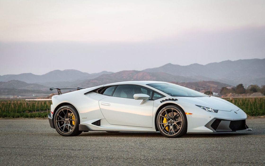 2016 Vorsteiner Lamborghini Huracan Novara White cars supercars modified wheels wallpaper