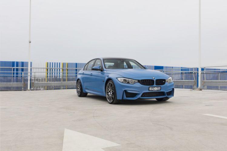 BMW M3 Competition Package AU-spec (F80) cars sedan blue 2016 wallpaper