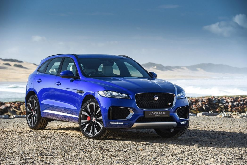 Jaguar F-Pace S 35t AWD ZA-spec cars blue suv 2016 wallpaper