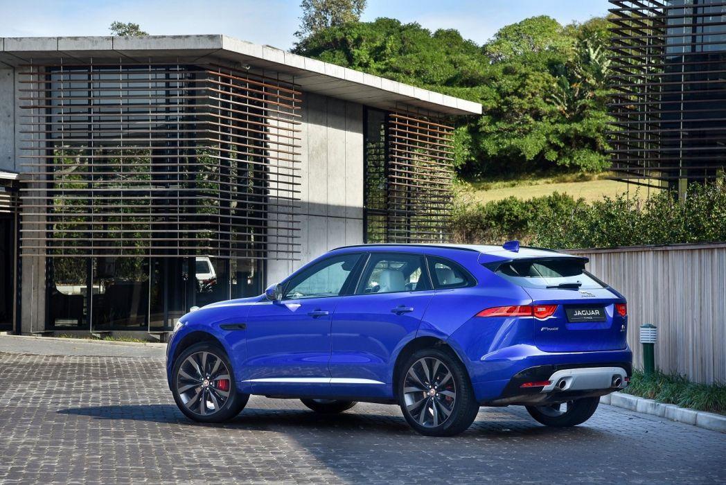 Jaguar F-Pace S 35t AWD ZA-spec cars blue suv 2016 wallpaper