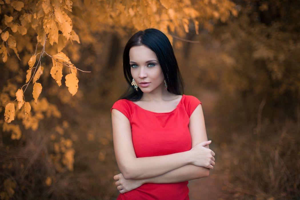 beautiful girl female women woman sexy babe model brunette f wallpaper