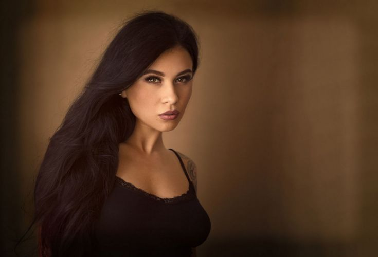 beautiful girl female women woman sexy babe model adult brunette f wallpaper
