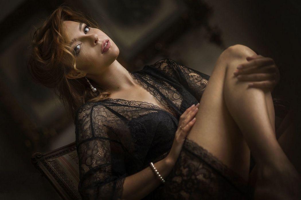 beautiful girl female women woman sexy babe model adult redhead g wallpaper