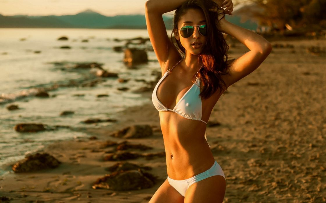 beautiful girl female women woman sexy babe model adult redhead bikini h wallpaper