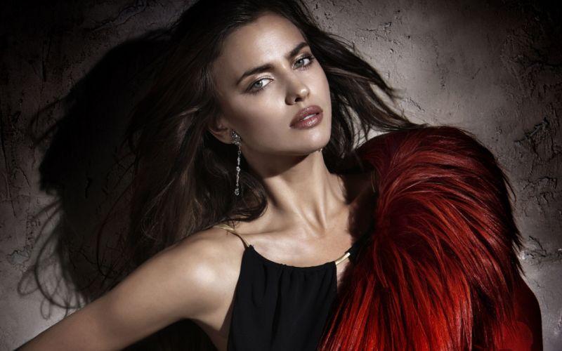beautiful girl female women woman sexy babe model brunette face f wallpaper