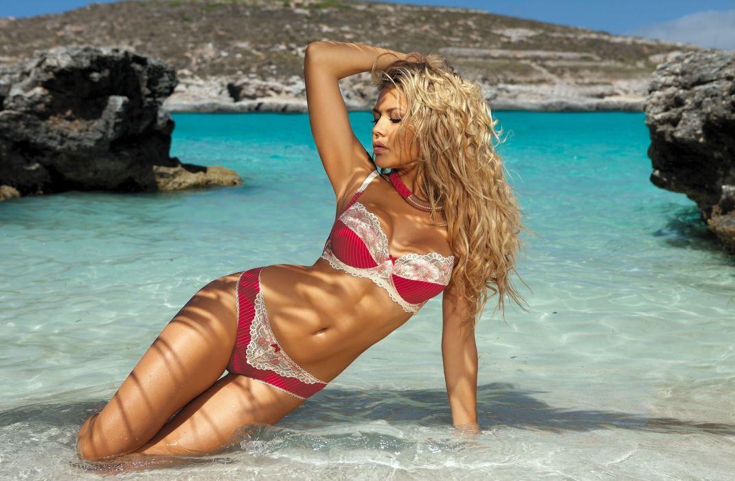 beautiful girl female women woman sexy babe model adult blonde bikini h wallpaper