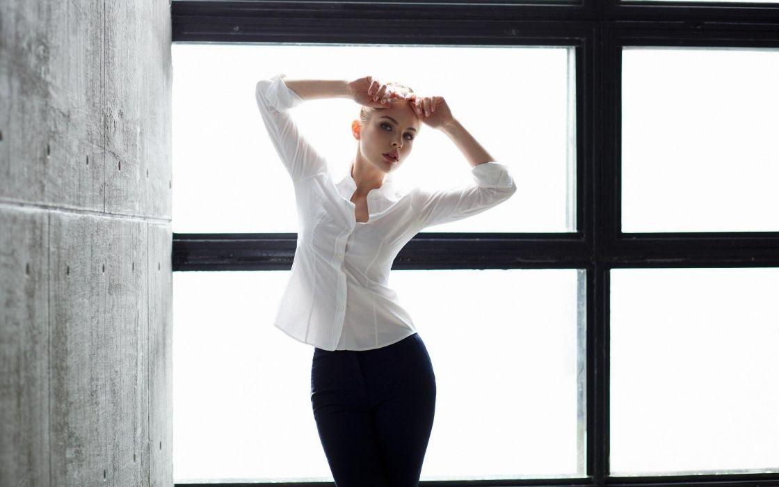 beautiful girl female women woman sexy babe model blonde g wallpaper