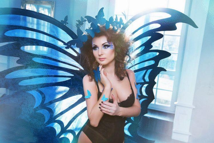 beautiful girl female women woman sexy babe model adult brunette r wallpaper