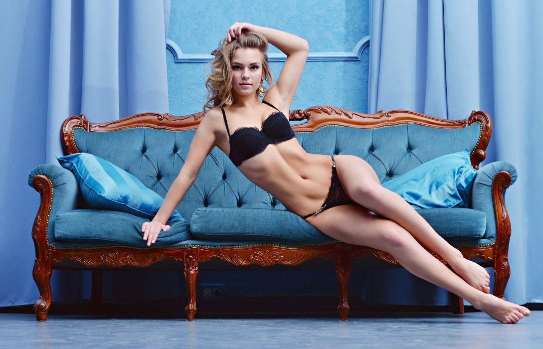 beautiful girl female women woman sexy babe model adult blonde d wallpaper