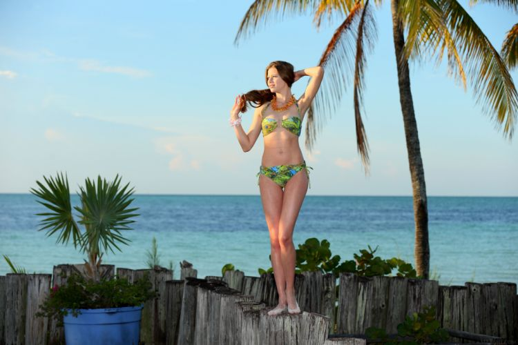 beautiful girl female women woman sexy babe model adult brunette bikini g wallpaper