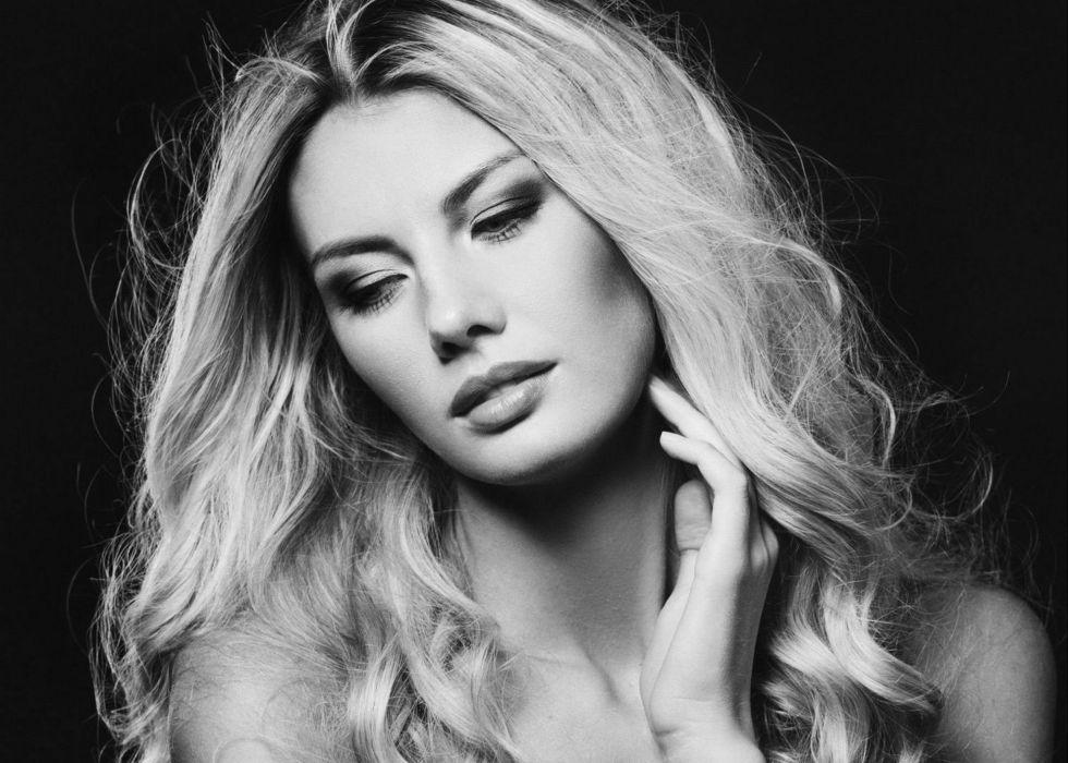 beautiful girl female women woman sexy babe model blonde face h wallpaper