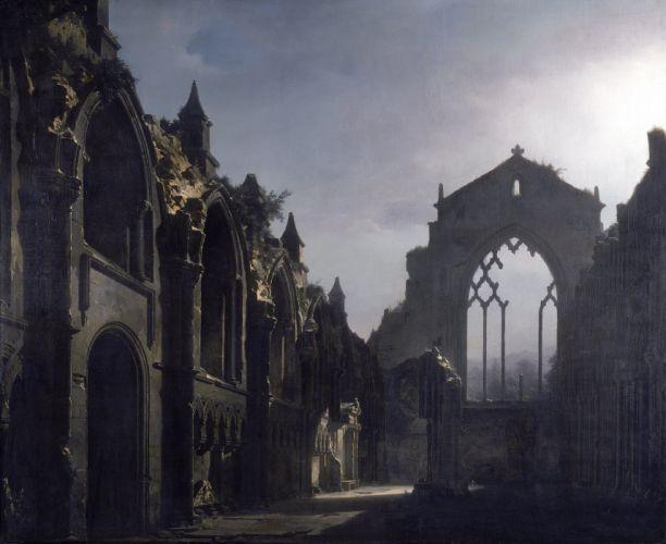 cuadro arte arcos ruinas palacio wallpaper