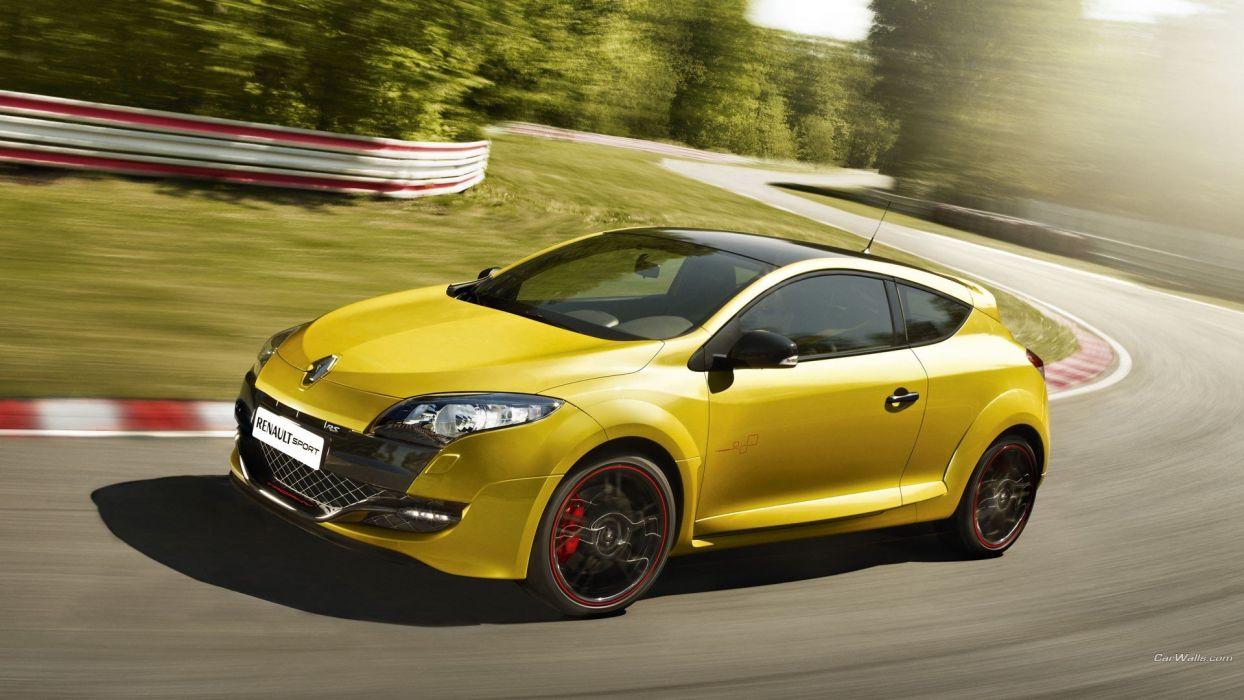 coche renault clio amarillo wallpaper