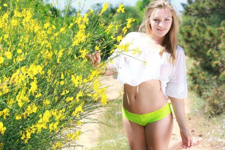 beautiful girl female women woman sexy babe model adult blonde bikini f wallpaper