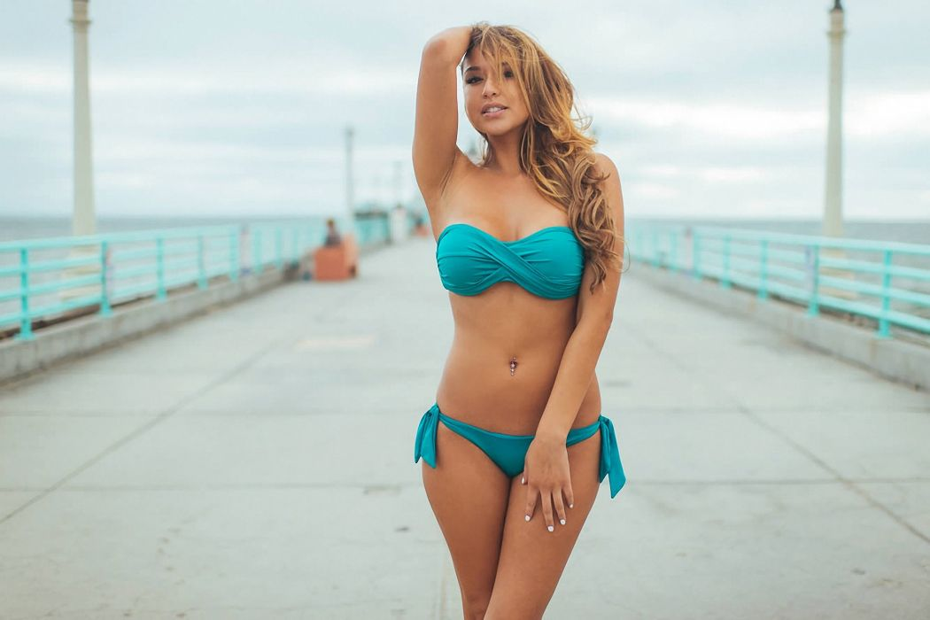 beautiful girl female women woman sexy babe model adult redhead face bikini f wallpaper