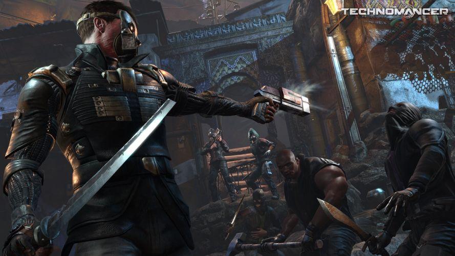 TECHNOMANCER action fighting warrior sci-fi rpg futuristic shooter wallpaper