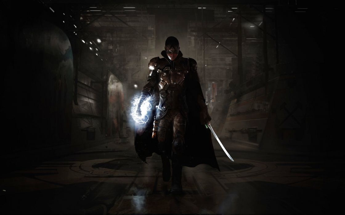 TECHNOMANCER action fighting warrior sci-fi rpg futuristic shooter wallpaper
