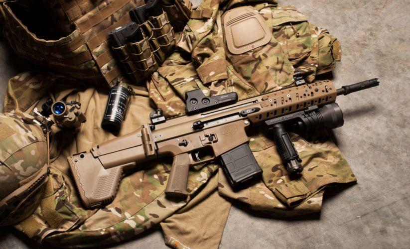 military gun weapon scar25 sr25 assault rifle m110 mk11 4288x2607 wallpaper