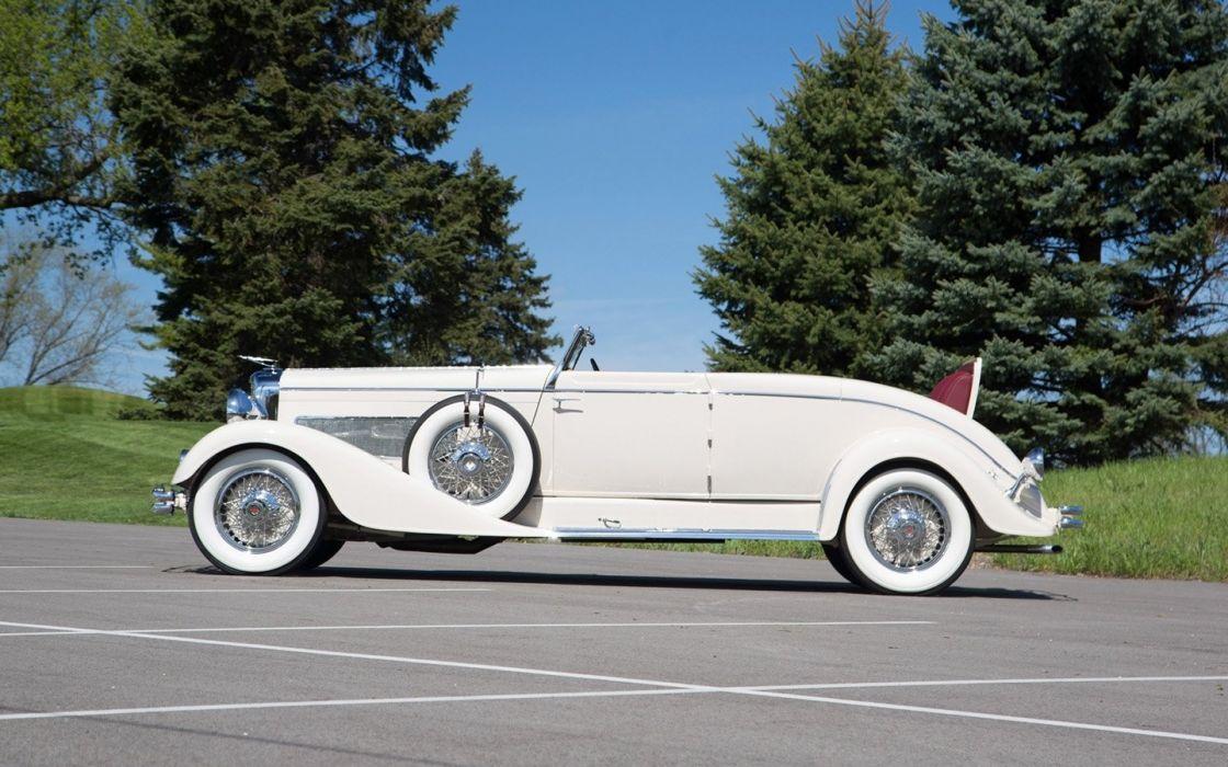 1933 Duesenberg Model J Convertible Coupe cars white classic wallpaper