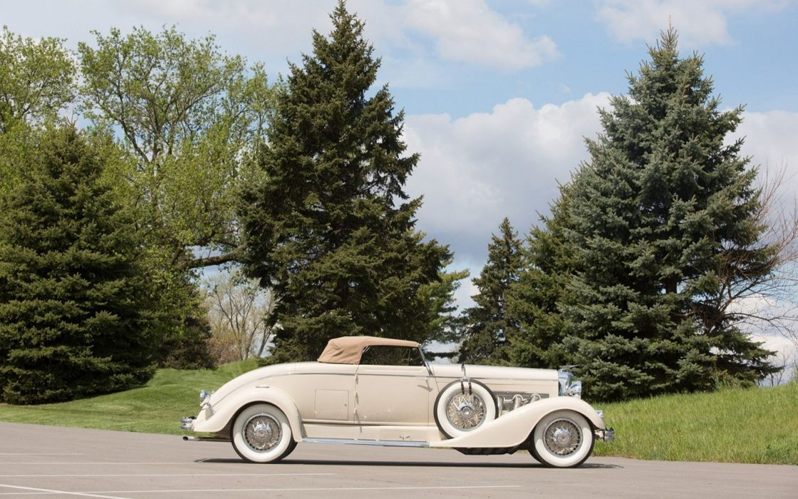 1933 Duesenberg Model J Convertible Coupe cars white classic wallpaper