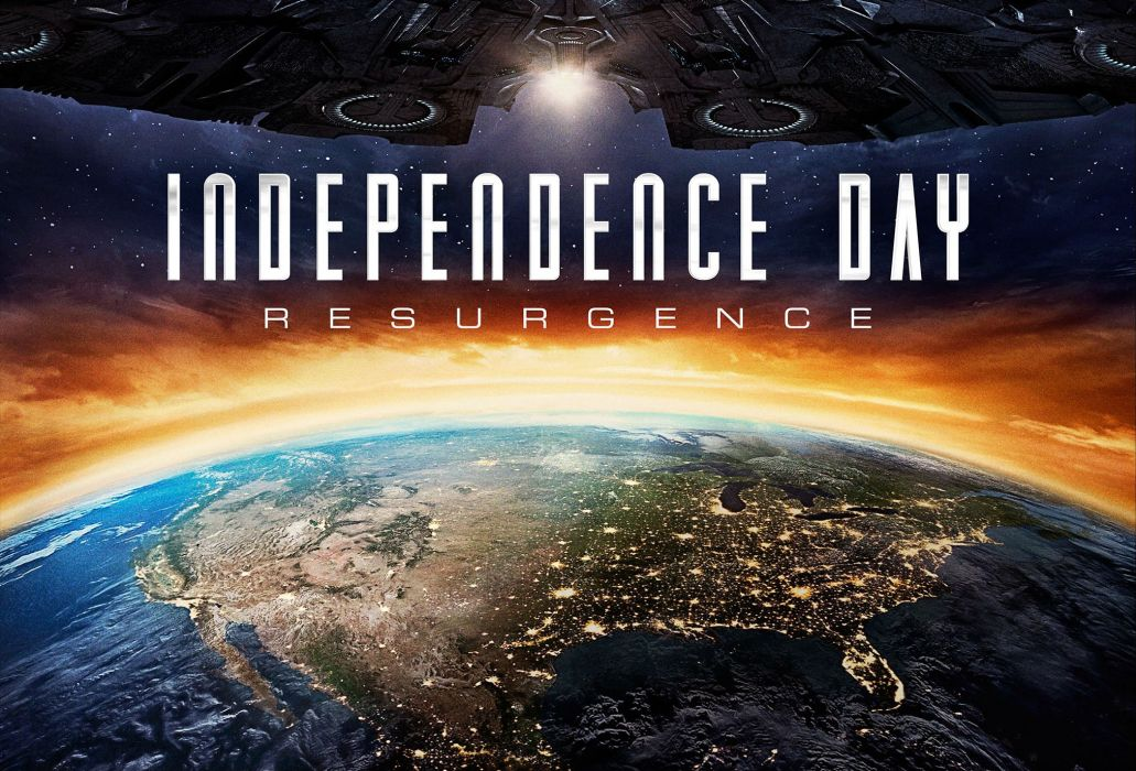 poster Independence Day Resurgence sci-fi futuristic action thriller alien aliens adventure space spaceship wallpaper