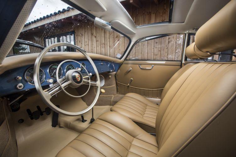 Porsche 356A 1600 Super Coupe Reutter (T2) cars blue 1957 wallpaper