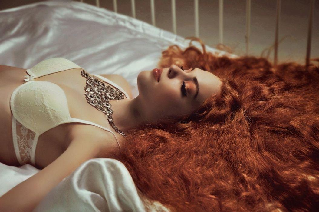 beautiful girl female women woman sexy babe model adult redhead face g wallpaper