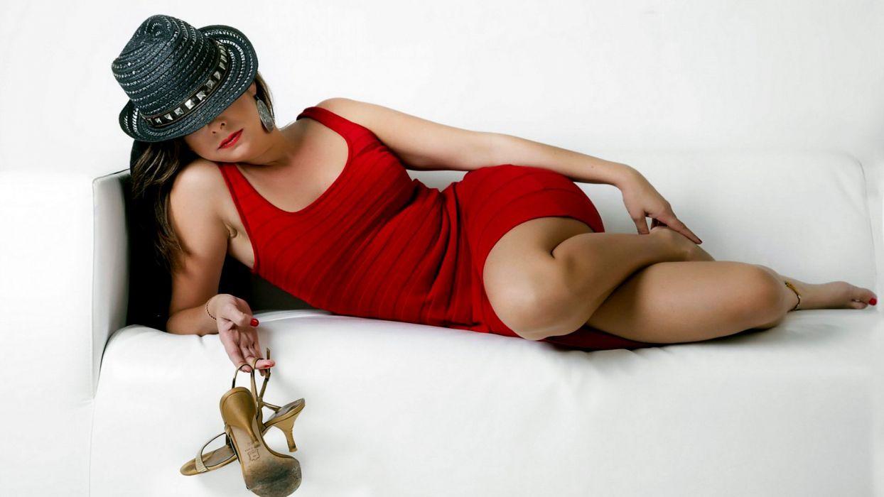 beautiful girl female women woman sexy babe model brunette s wallpaper