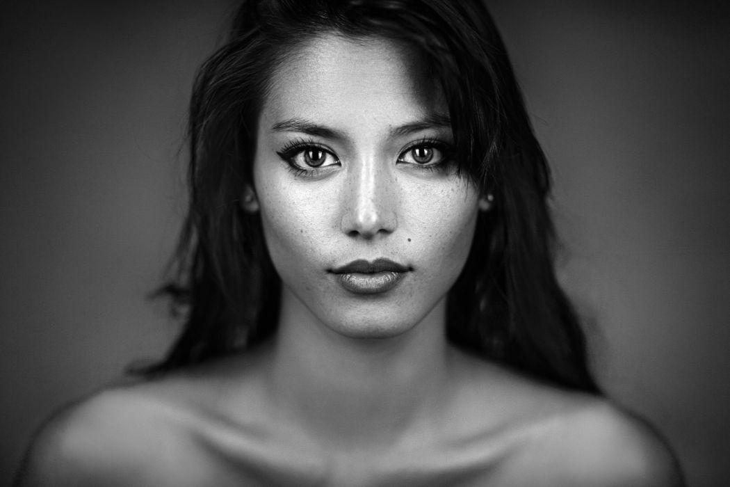 beautiful girl female women woman sexy babe model asian oriental face g wallpaper